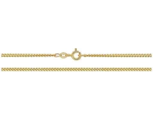 Treasure House 9k Yellow Gold Close Curb Chain 16″ Ch164/16