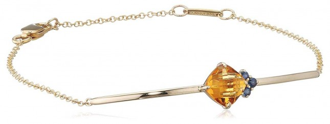 Fiorelli Gold 9k Yellow Gold Citrine Sapphire Bracelet GB431