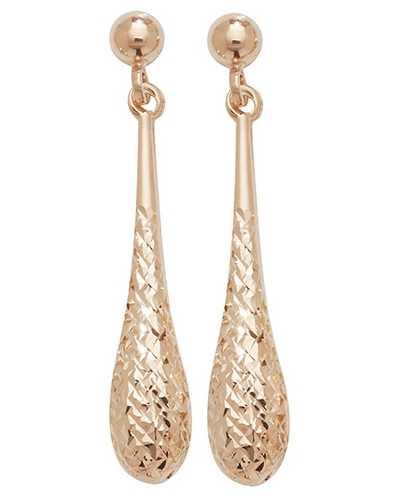 Treasure House 9k Rose Gold Drop Stud Earrings ES422R