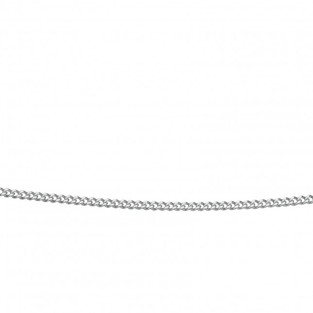 9k White Gold Curb Chain 18″ GN193