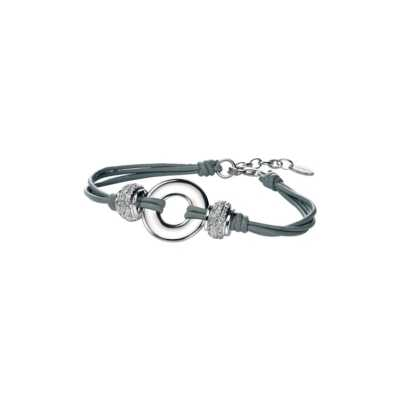 Fiorelli Stone Set Bead and Ring Leather Bracelet B3981