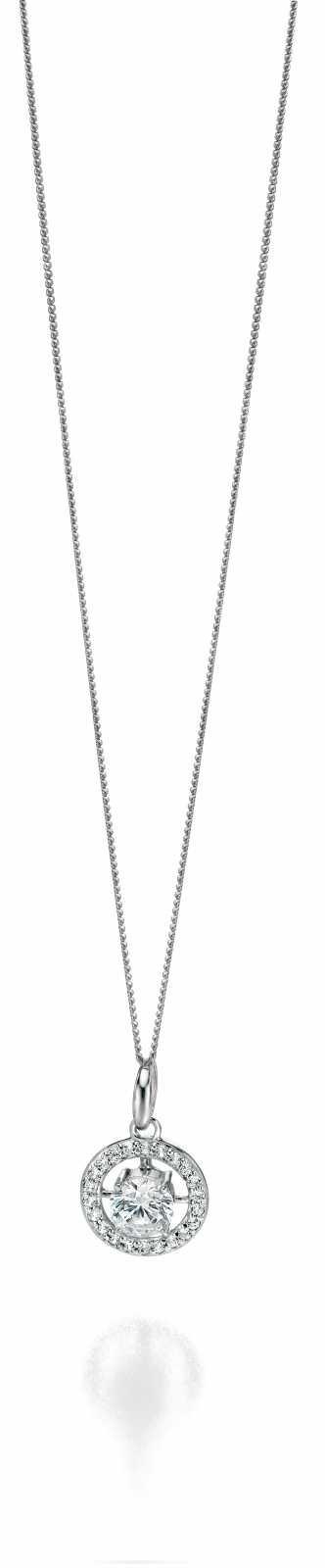 Fiorelli Silver Round Pave Cubic Zirconia Pendant P3962C