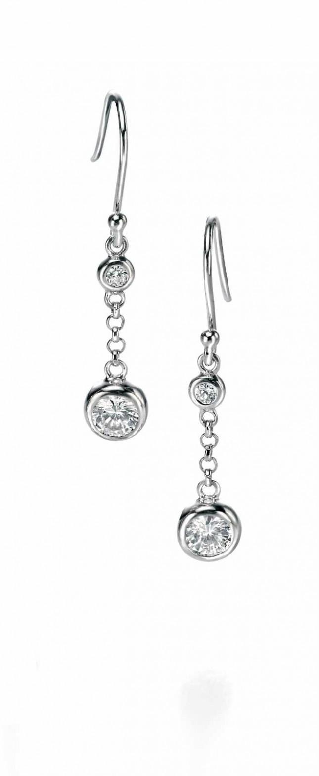 Fiorelli Double Bubble Cubic Zirconia Earrings E4548C