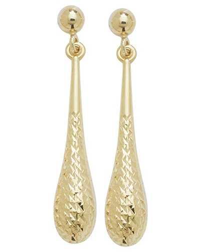 James Moore TH 9k Yellow Gold Drop Stud Earrings ES422