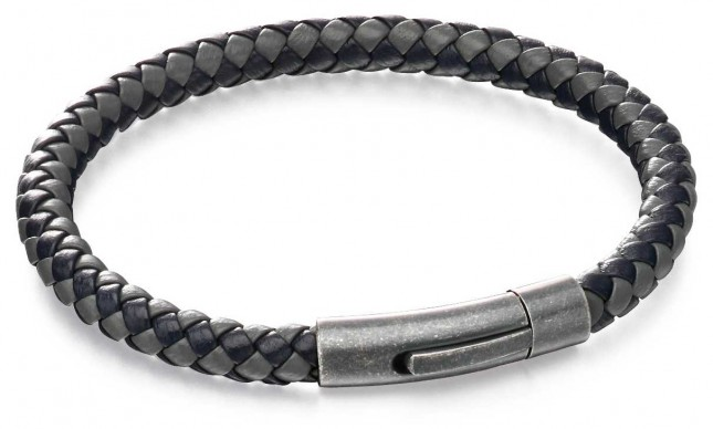 Fred Bennett Blue Grey Leather Bracelet B5062