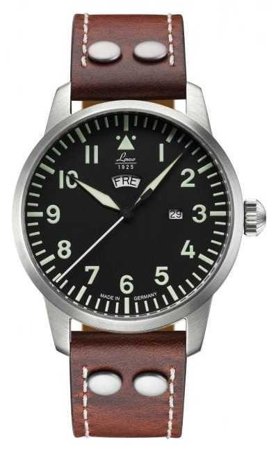 Laco GENF | Quartz Pilot A | Brown Leather Strap 861807