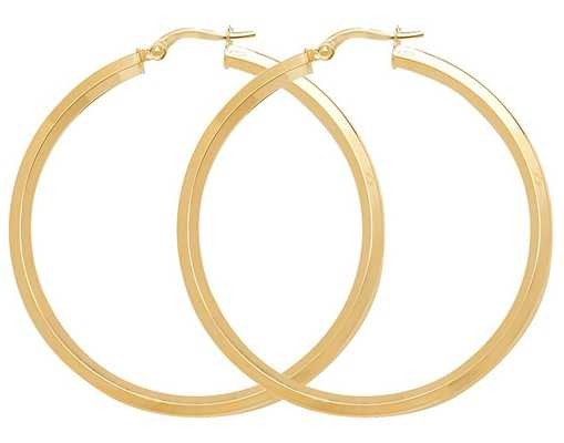 Treasure House 9k Yellow Gold Hoop Earrings 40 mm ER998-40