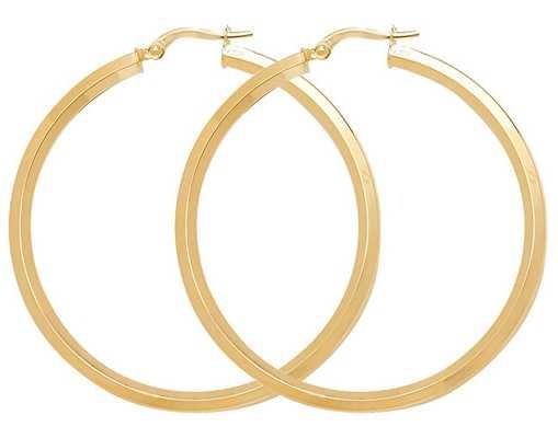 Treasure House 9k Yellow Gold Hoop Earrings 40 mm ER998-40