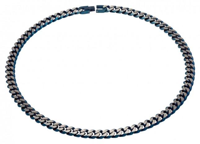 Unique & Co Stainless Steel | Matte Blue IP |  9mm | Necklace LAK-130/50CM