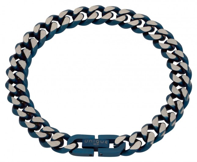 Unique & Co Stainless Steel | Matte Blue IP Plating | 9mm | Bracelet LAB-130/21CM