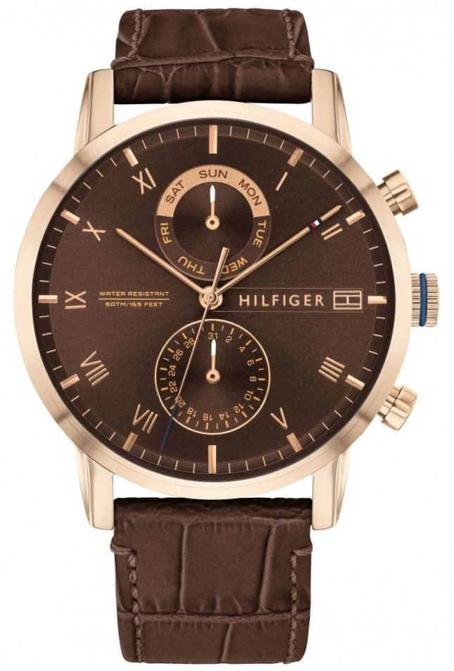 Tommy Hilfiger Kane | Brown Leather Strap | Brown Dial 1710400