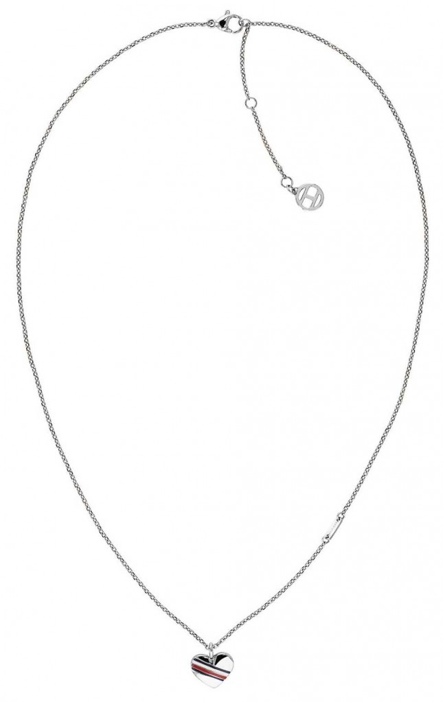 Tommy Hilfiger Womens Silver Heart Pendant Necklace 2780128