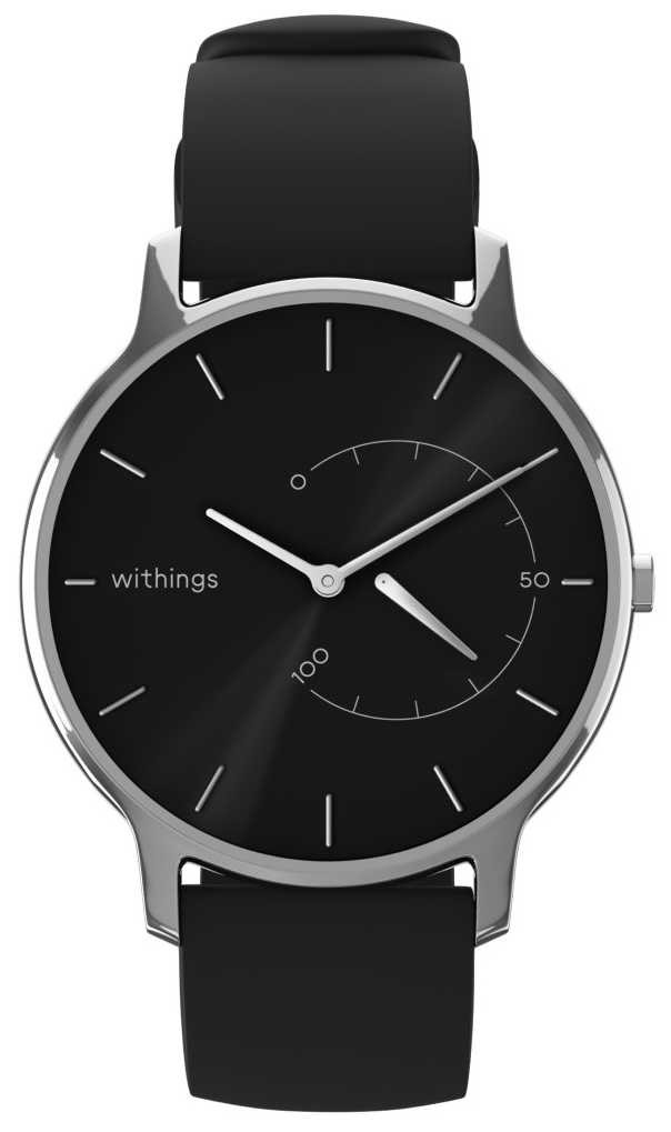 Withings Move Timeless Chic – Black, Black Silicone HWA06M-TIMELESS CHIC-MODEL 1-RET-INT