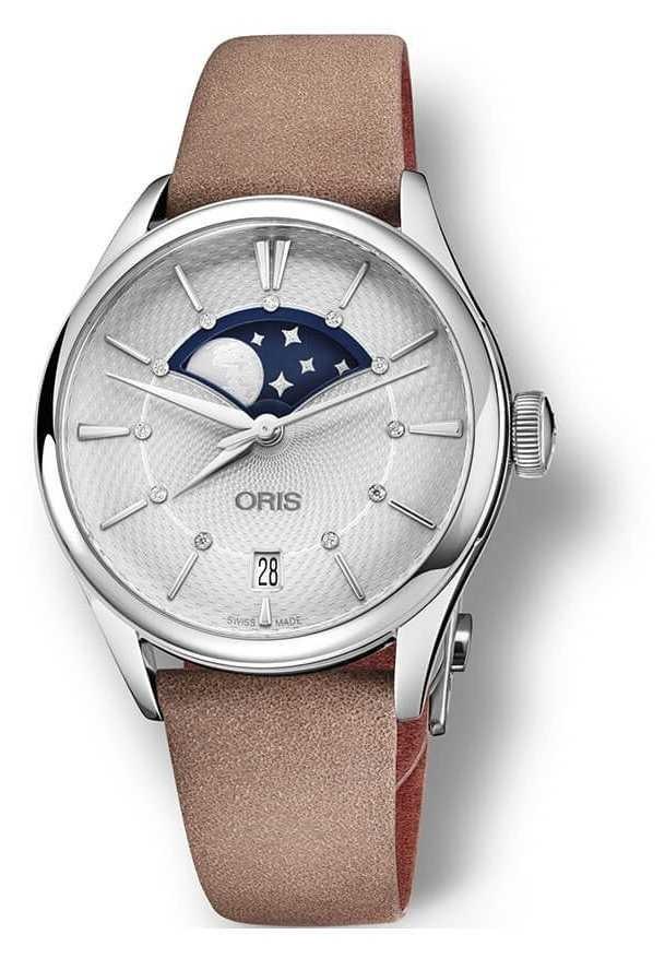 ORIS Oris Artelier Grande Lune 36 mm Light Brown Strap 01 763 7723 4051-07 5 18 33FC