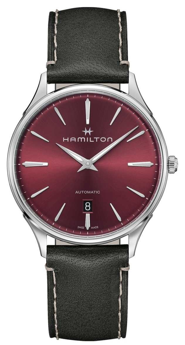 Hamilton Jazzmaster Thinline   Automatic   Red Dial   Grey Strap H38525771