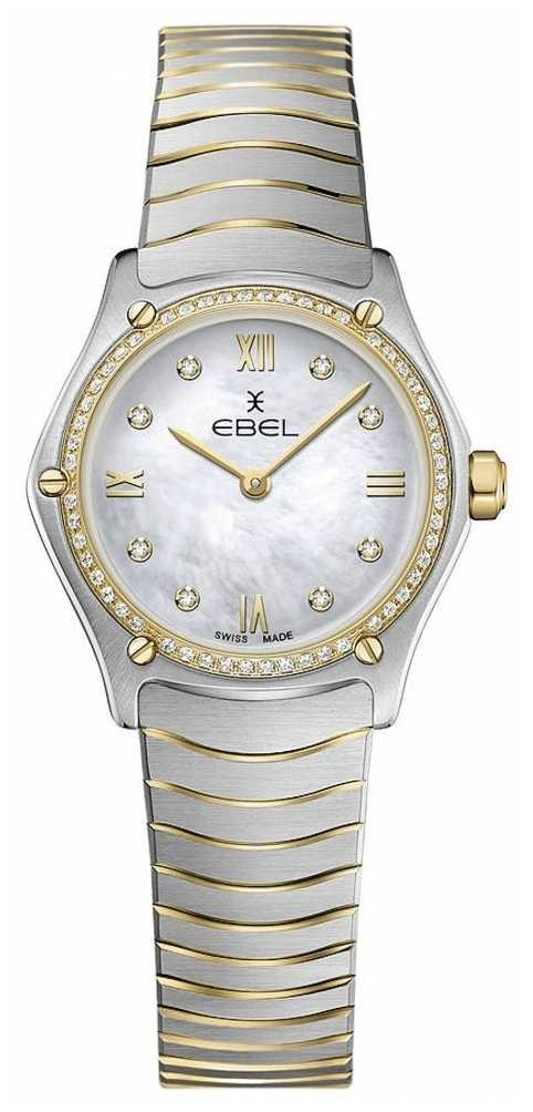 EBEL Womens Sport Classic 53 Diamonds 18k Yellow Gold 1216412A