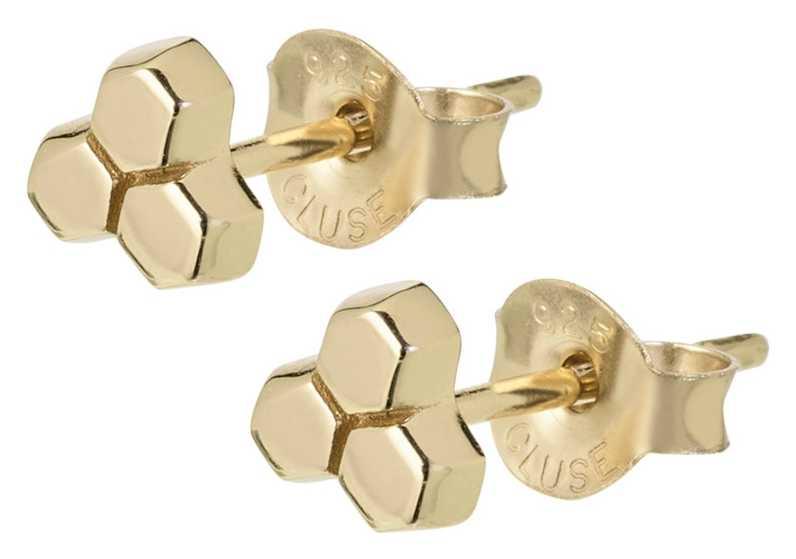 Cluse Essentielle Gold Three Hexagon Stud Earrings CLJ51017
