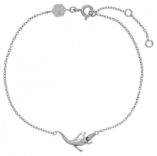 Cluse Force Tropicale Silver Alligator Chain Bracelet CLJ12021