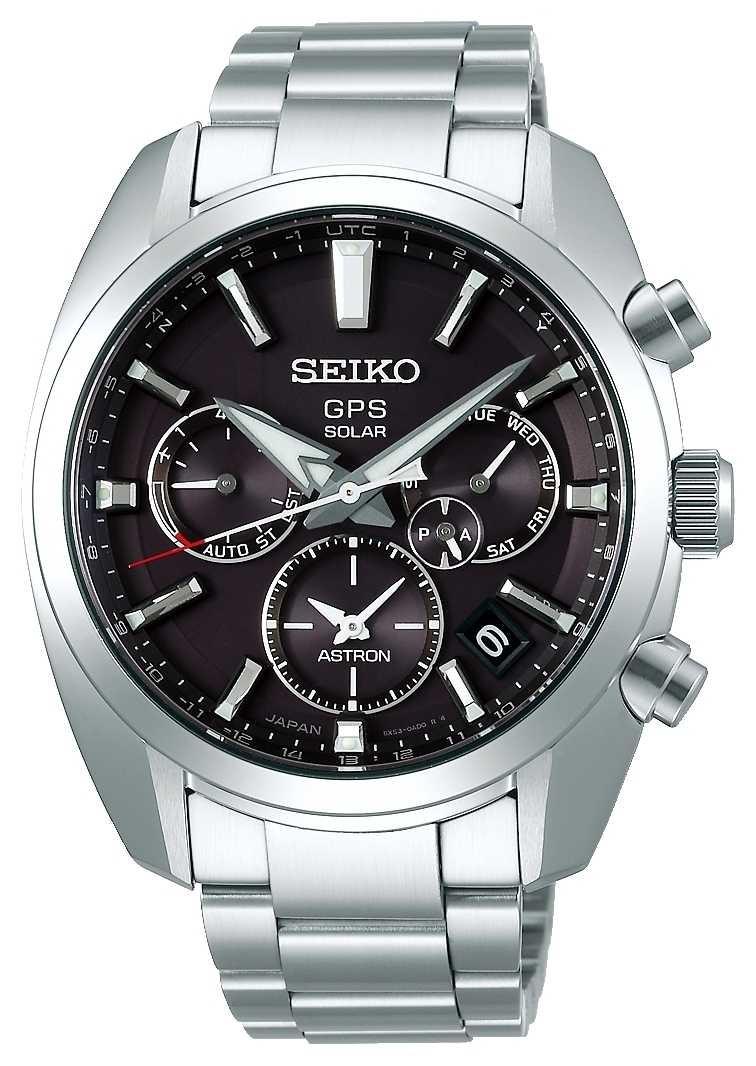 Seiko Astron Solar GPS Men's Grey Dial Stainless Steel Bracelet SSH021J1