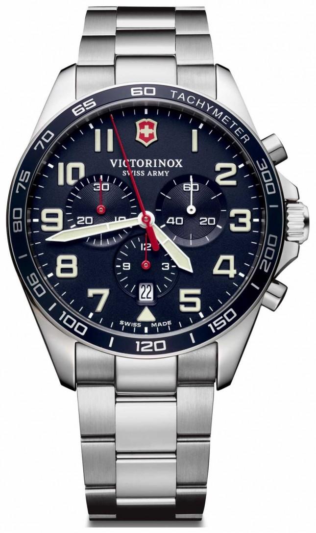 Victorinox Swiss Army | Mens Fieldforce | Chronograph | Blue Stainless Steel | 241857