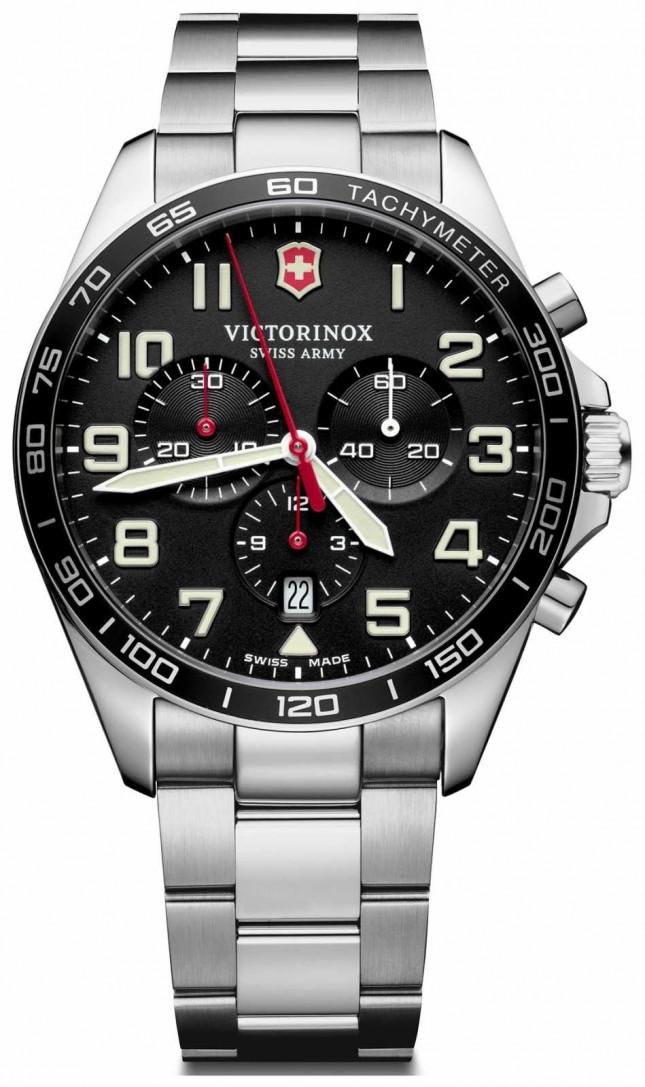 Victorinox Swiss Army | Mens Fieldforce | Chronograph | Black Stainless Steel | 241855
