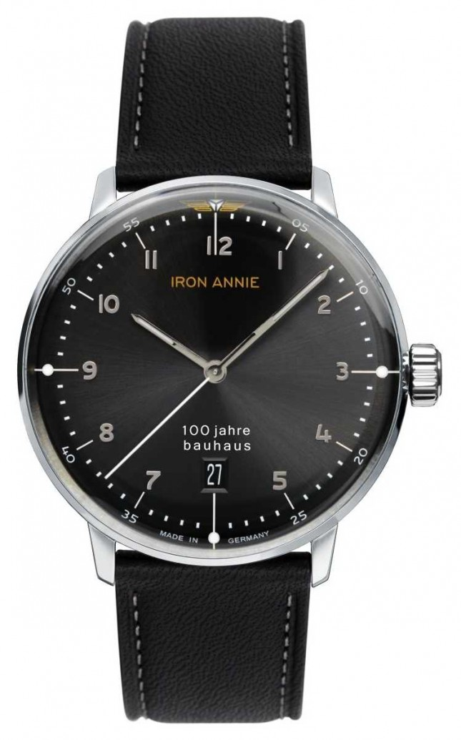 Iron Annie Bauhaus | Black Dial | Black Leather Strap 5046-2