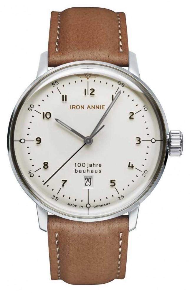 Iron Annie Bauhaus | White Dial | Brown Leather Strap 5046-1