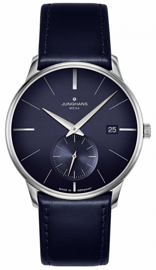 Junghans Meister MEGA Small Second   Blue Leather Strap   058/4901.00