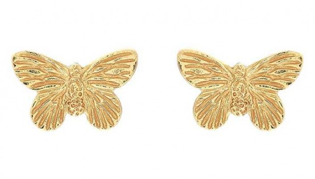 Olivia Burton | 3D Butterfly | Gold | Stud Earrings | OBJ16MBE01