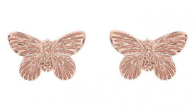 Olivia Burton | 3D Butterfly | Rose Gold | Stud Earrings | OBJ16MBE02