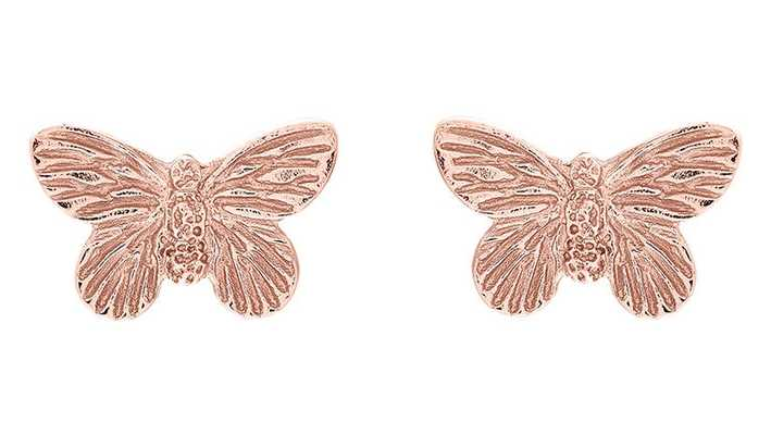 Olivia Burton   3D Butterfly   Rose Gold   Stud Earrings   OBJ16MBE02