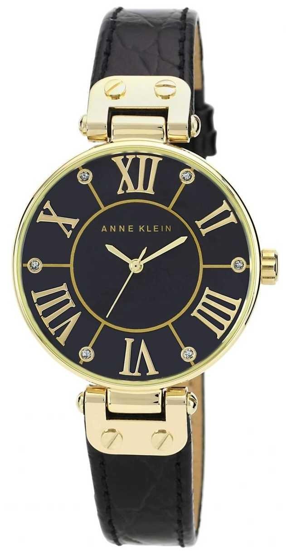 Anne Klein   Womens Signature Watch   Black And Gold   AK/N1396BMBK