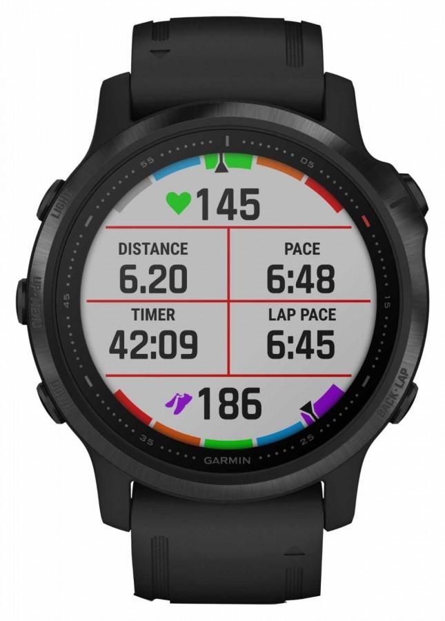 Garmin Fenix 6S Pro Gorilla Glass   Multisport Smartwatch   Black Rubber Strap 010-02159-14