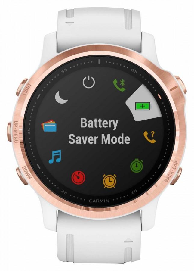 Garmin Fenix 6S Pro Gorilla Glass | Multisport Smartwatch | Rose Gold White Strap 010-02159-11