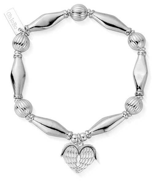 ChloBo   Sterling Silver 'Heavenly Heart' Bracelet   SBCHP921