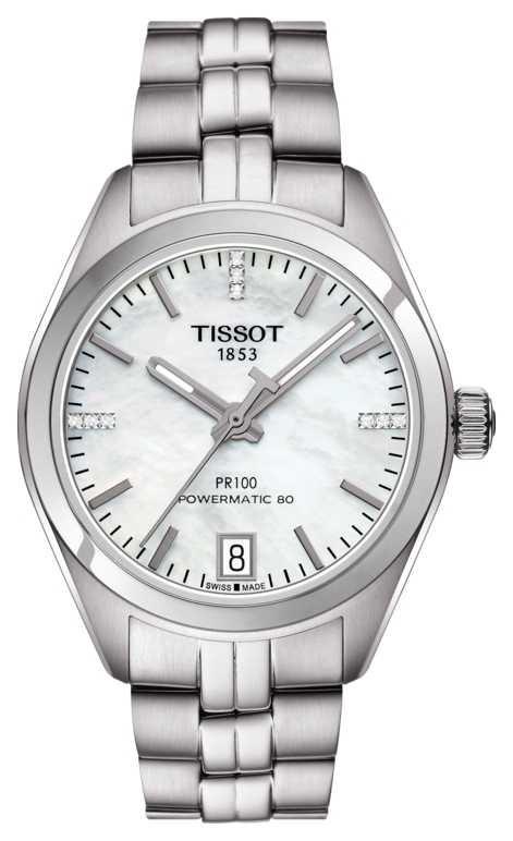 Tissot Women's PR 100 Powermatic 80 Stainless Steel Mother of Pearl T1012071111600