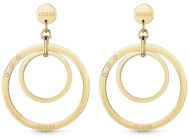 Guess Women's 'Eternal Circles' Large Gold Multi Hoop Earrings UBE29023