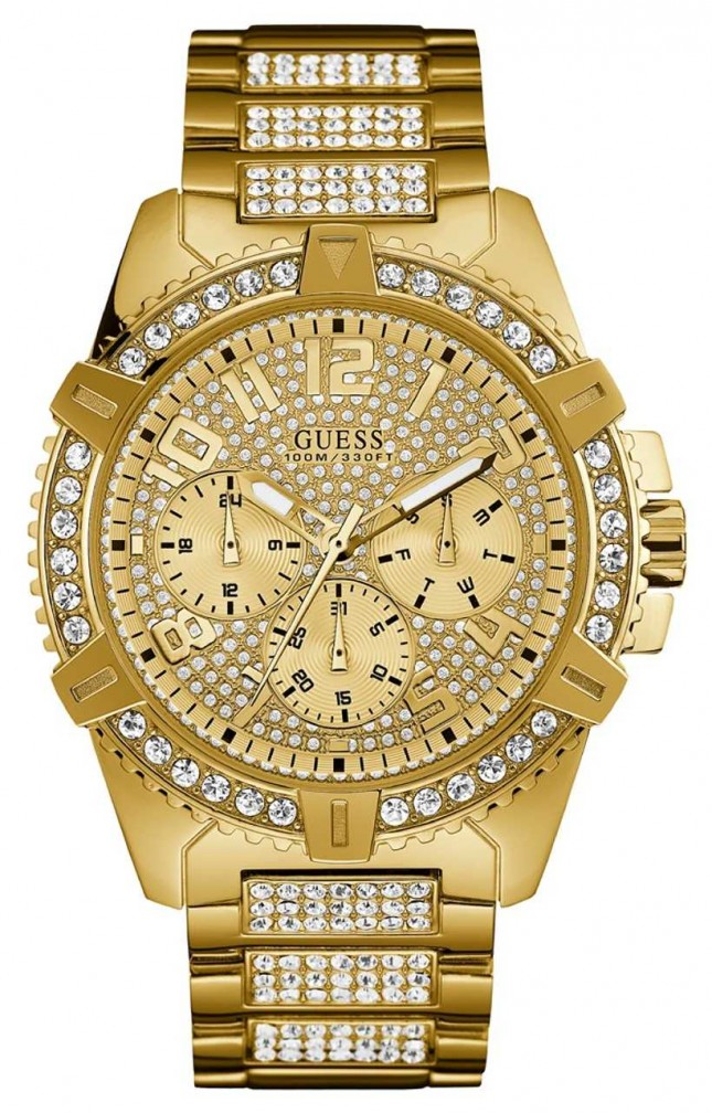 Guess | Men's Frontier | Gold Plated Bracelet | Gold Multi Dial | W0799G2