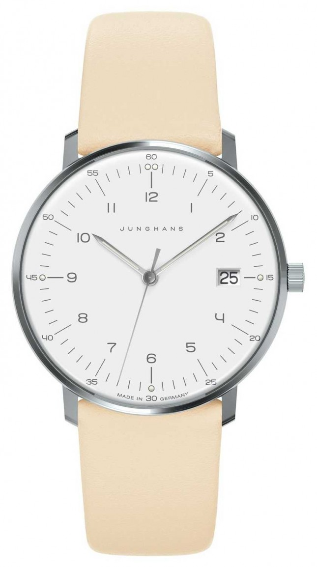Junghans Max Bill Womens | Cream Calf-Skin Strap | 047/4252.04