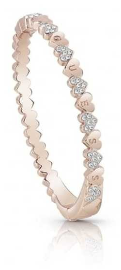 Guess Ladies Rose Gold Plated Heart Bouquet Bangle UBB85106-L