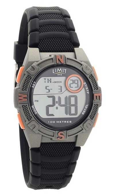 Limit Mens Black Rubber Strap Digital/Analogue Watch 5695.71