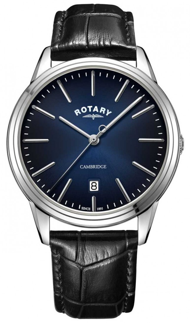 Rotary | Men's Cambridge | Blue Dial | Black Leather Strap | GS05390/05