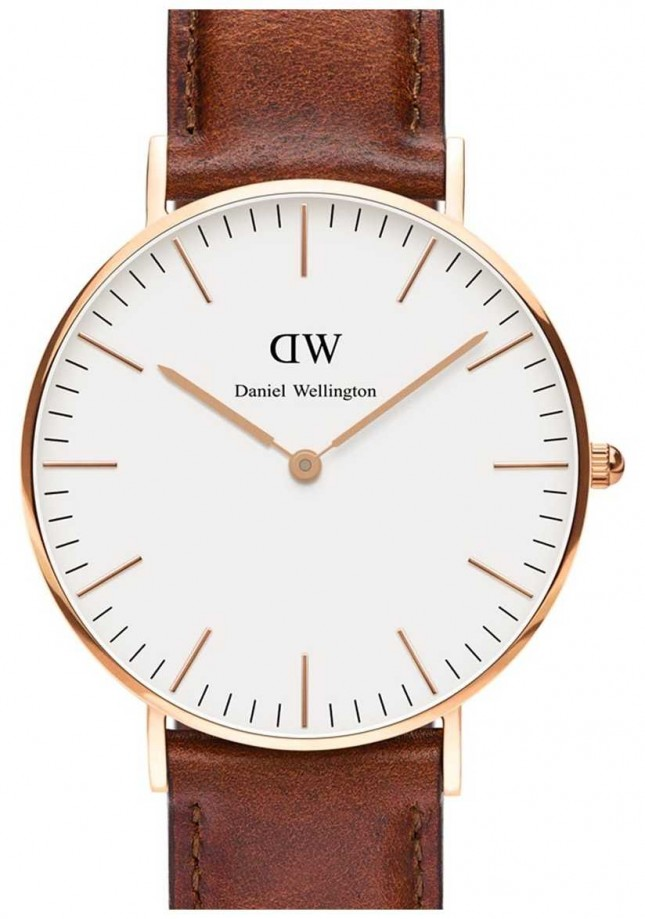 Daniel Wellington Unisex Classic St Mawes 36mm Rose Gold Brown DW00100035