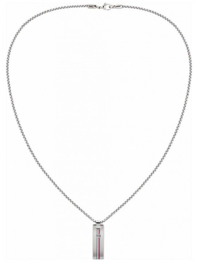 Tommy Hilfiger | Stainless Steel Skinny Dog Tag Necklace | 2790169