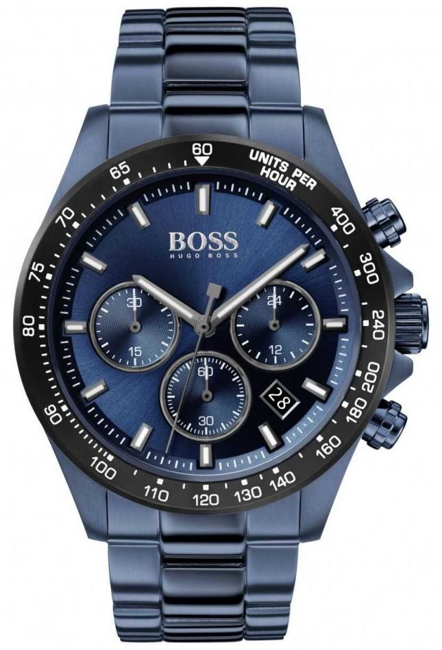 BOSS | Men's | Hero Sport Lux | Blue Steel Bracelet | Blue Dial | 1513758