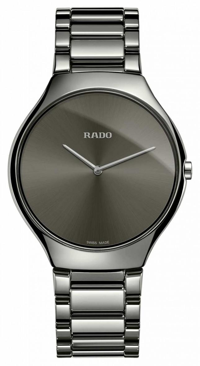RADO True Thinline Grey Ceramic Bracelet Grey Dial Watch R27955122