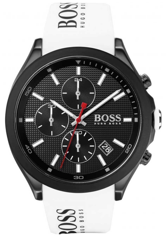 BOSS   Men's Velocity   White Rubber Strap   Black Dial   1513718