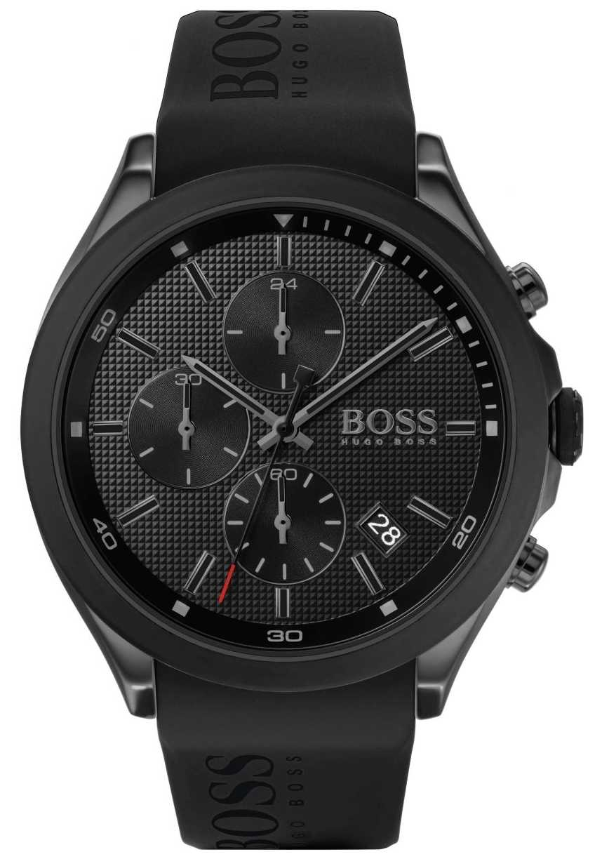 BOSS   Men's Velocity   Black Rubber Strap   Black Dial   1513720