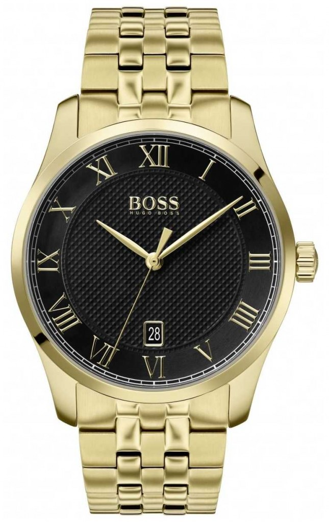 BOSS Master | Gold PVD Bracelet | Black Dial | 1513739