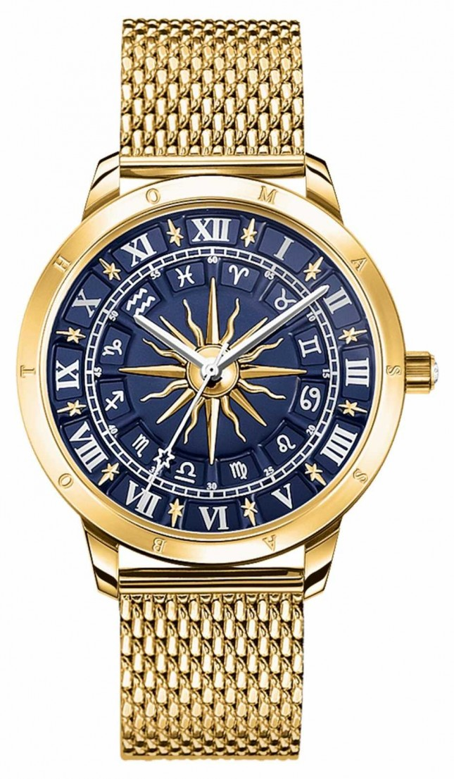 Thomas Sabo | Women's Glam Spirit Astro | Blue Dial | Gold Mesh | WA0352-264-209-33